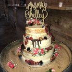 Naked Three Tier Wedding cake