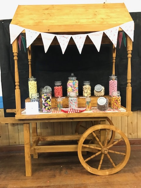 vintage candy cart for rent surrey